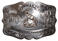 The Western States silver buckle: the big prize for covering 100 miles in 24 hours.
