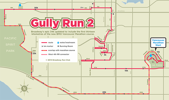 Gully Run 2 route map