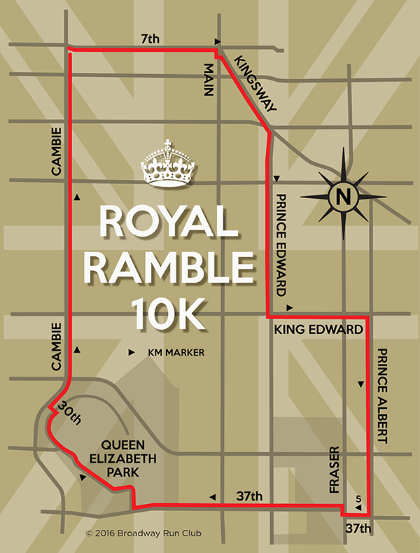Royal Ramble 10k Map