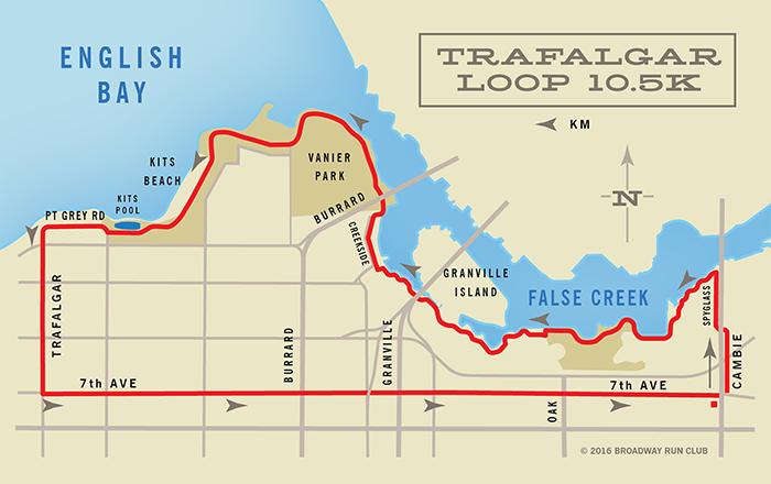 Trafalgar Loop 10k map