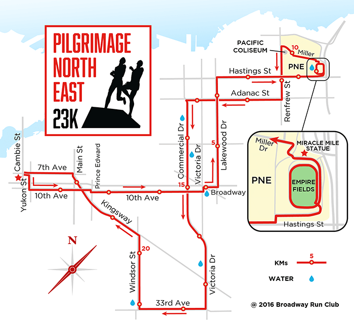 PNE Run 23k map