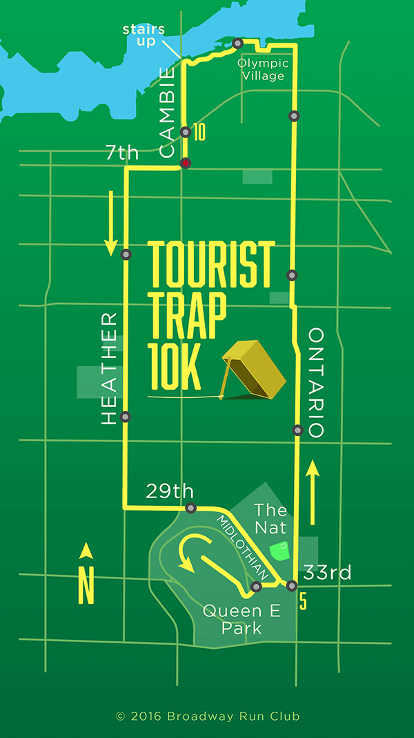 Tourist Trap 10k map