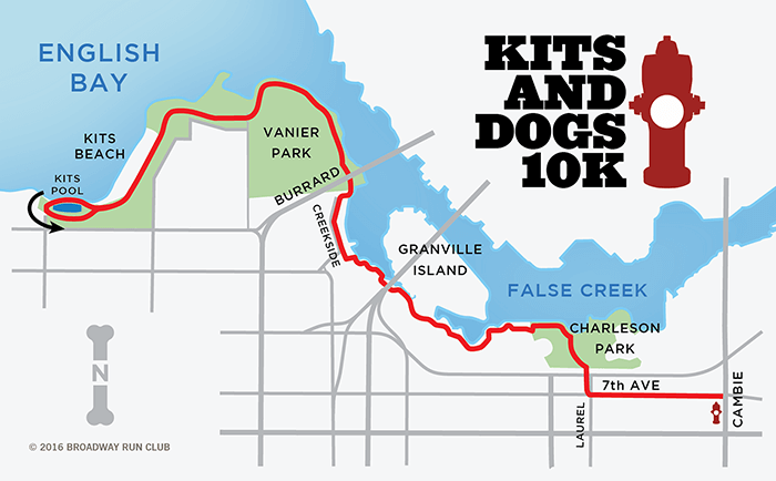 Kits and Dogs 10k map