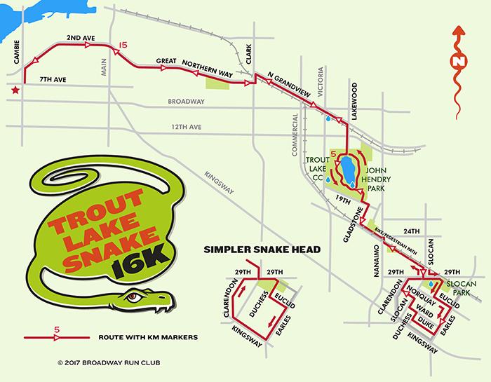 Trout Lake Snake 16k map