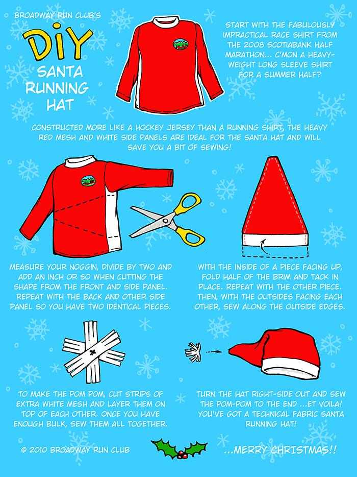 Broadway Run Club's DIY Santa Hat