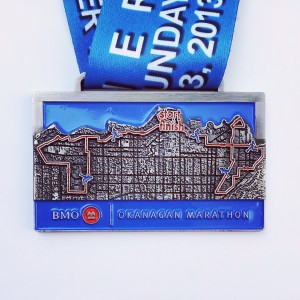 Okanagan Marathon medal 2013a