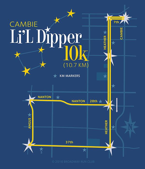 Cambie Li'l Dipper 10k Map