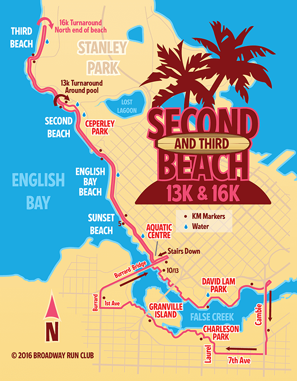Second Beach 13k map
