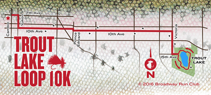 Trout Lake Loop 10k map