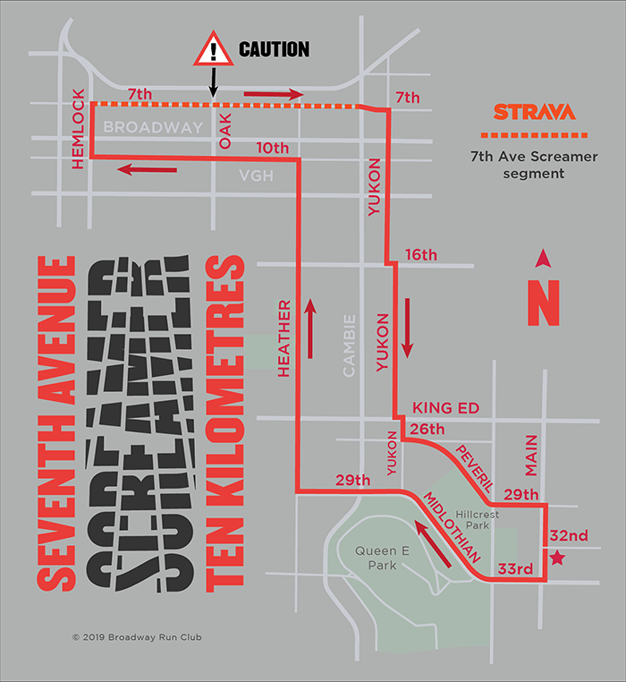 Seventh Avenue Screamer 10k map