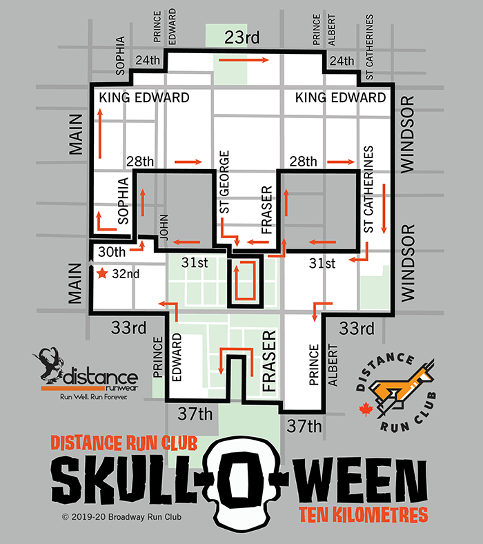 Skull-O-Ween 10k Map