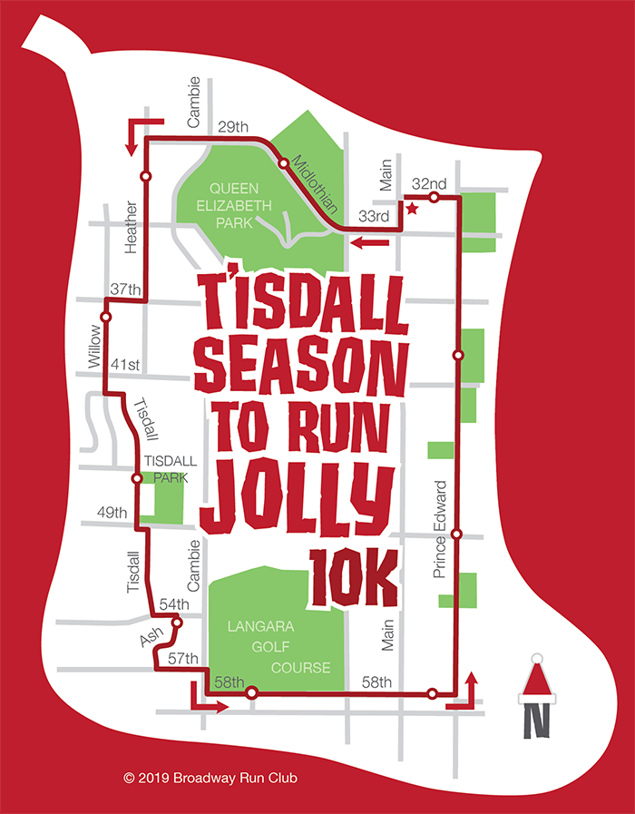 T'isdall Season To Run Jolly 10k map