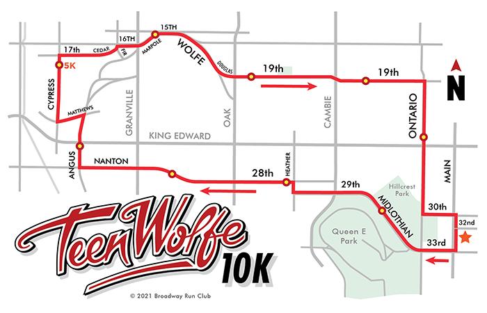 Teen Wolfe 10k map