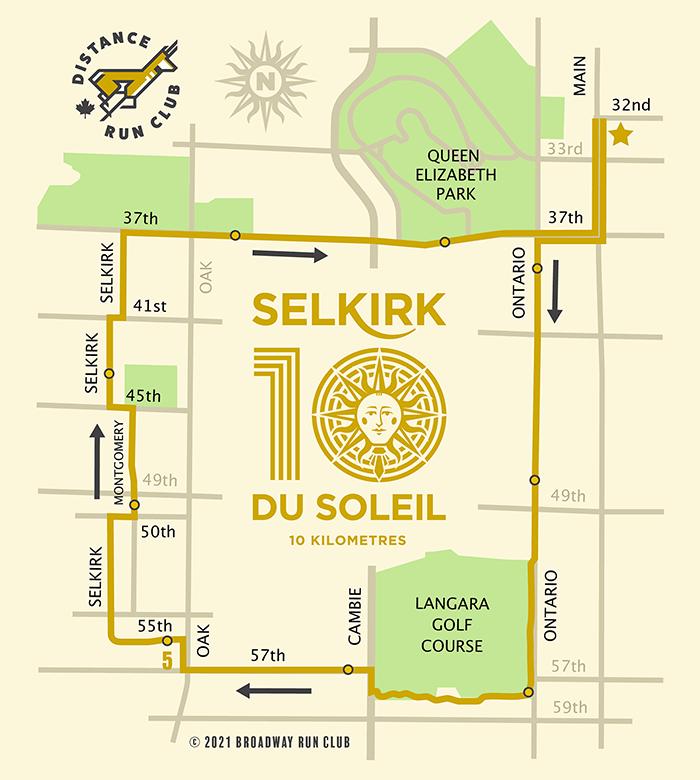 Selkirk Du Soleil 10k map
